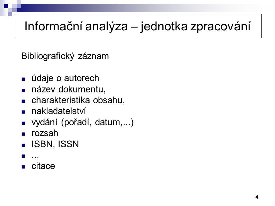 15 Zipfův zákon Týká se závislosti frekvence slov a pořadí slov v textu podle frekvence F s...