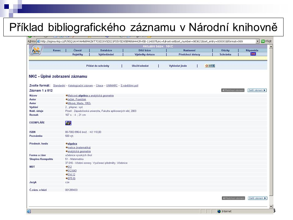 37 Web of Science – related records Článek 2 …..Literatura: [1] A ….