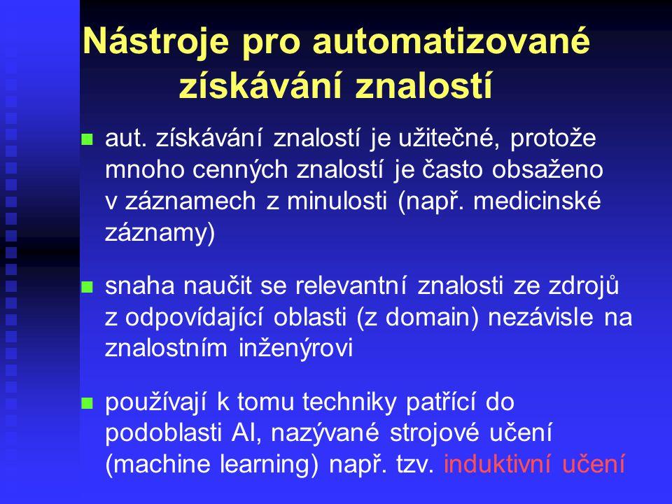 Nástroje pro automatizované získávání znalostí n n aut.