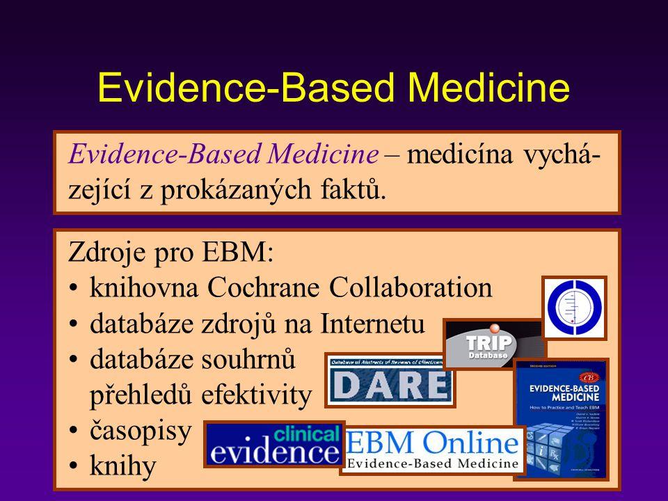 Evidence-Based Medicine – medicína vychá- zející z prokázaných faktů.