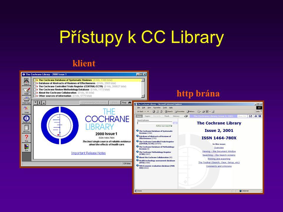 Přístupy k CC Library klient http brána