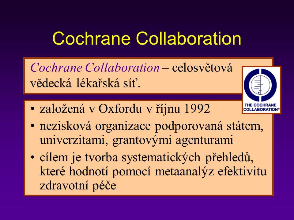 Cochrane Collaboration – celosvětová vědecká lékařská síť.