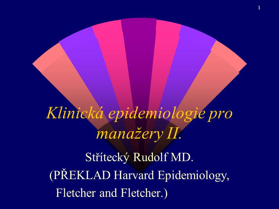 1 Klinická epidemiologie pro manažery II.Střítecký Rudolf MD.