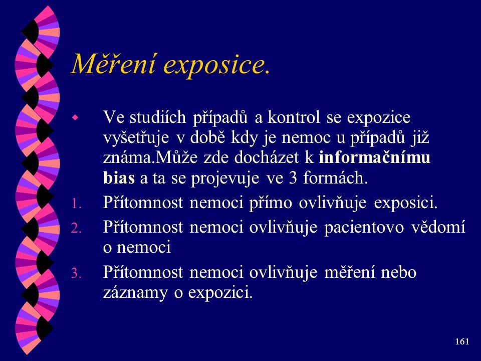 161 Měření exposice.