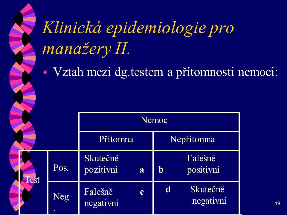 49 Klinická epidemiologie pro manažery II.