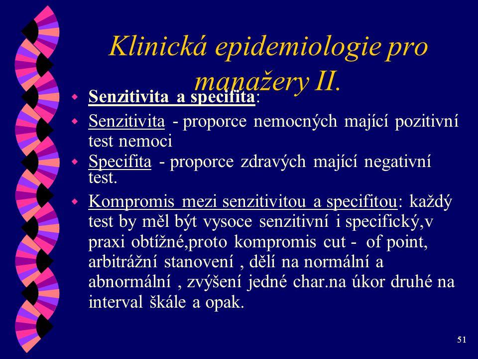 51 Klinická epidemiologie pro manažery II.