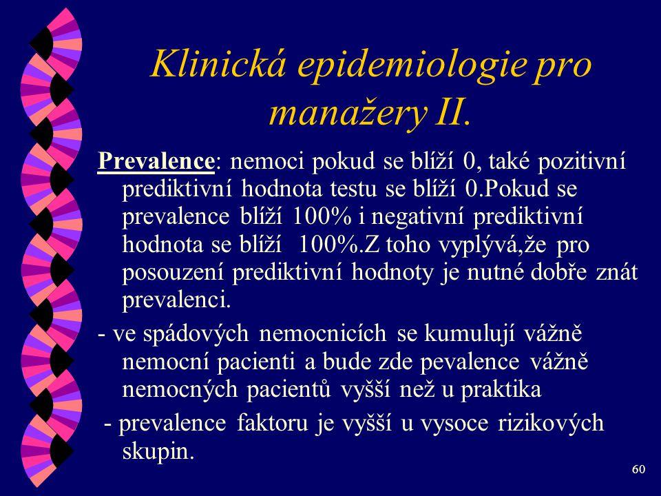 60 Klinická epidemiologie pro manažery II.