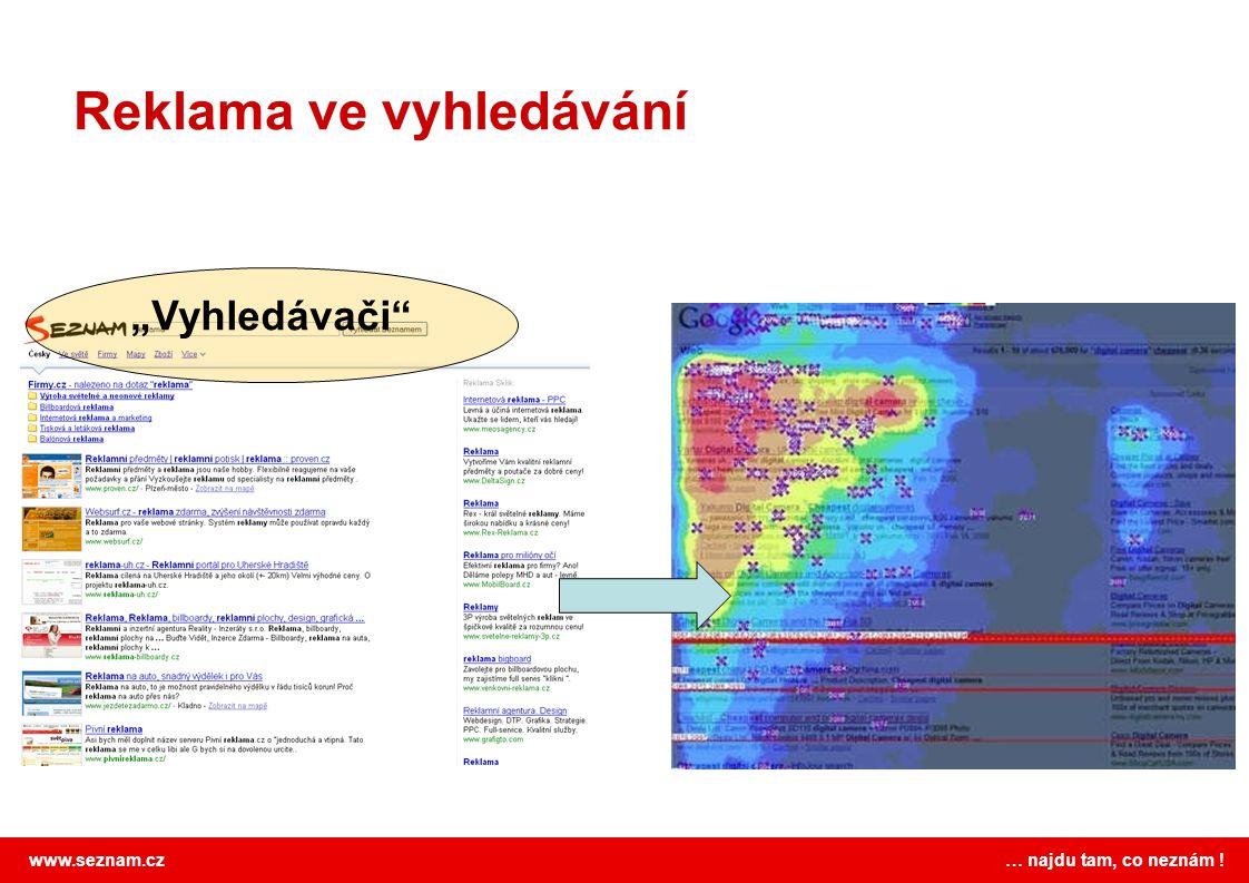 """www.seznam.cz … najdu tam, co neznám ! Reklama ve vyhledávání """"Vyhledávači"""""""