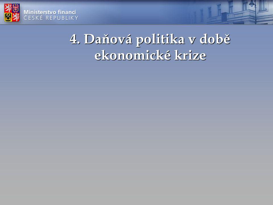 4. Daňová politika v době ekonomické krize