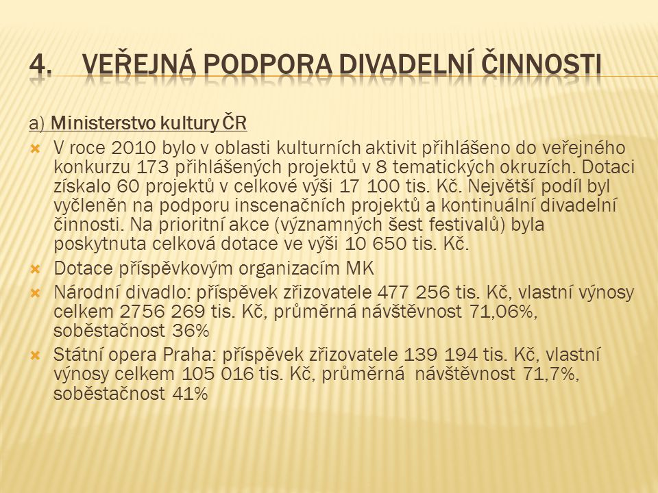 b) veřejná podpora divadelní činnosti v dotačních řízeních krajů ČR za rok 2009  Středočeský kraj 2 408 tis.