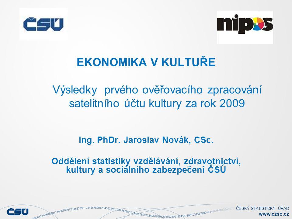 ČESKÝ STATISTICKÝ ÚŘAD www.czso.cz Průměrné měsíční mzdy v kultuře Průměrná mzda v ČR v roce 2009