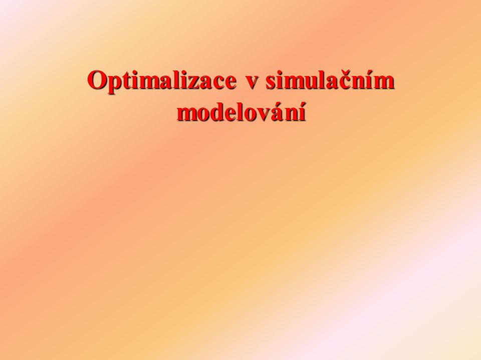Optimalizace v simulačním modelování