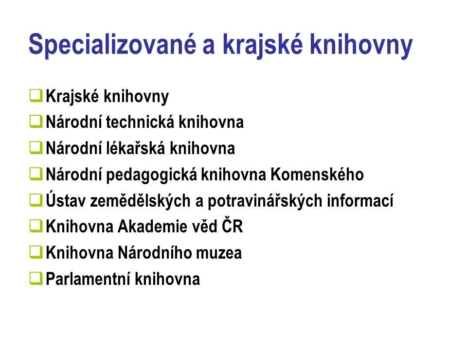 Vzdělávání  Školní vzdělávání – všechny stupně  Vyšší odborné  Bakalářské, magisterské, doktorandské studium  Mimoškolní vzdělávání – NK ČR, KK, SKIP, NTK  Rekvalifikace  Základní kurzy počítačové gramotnosti  Specializované semináře