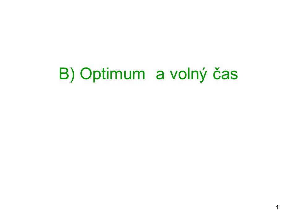 1 B) Optimum a volný čas