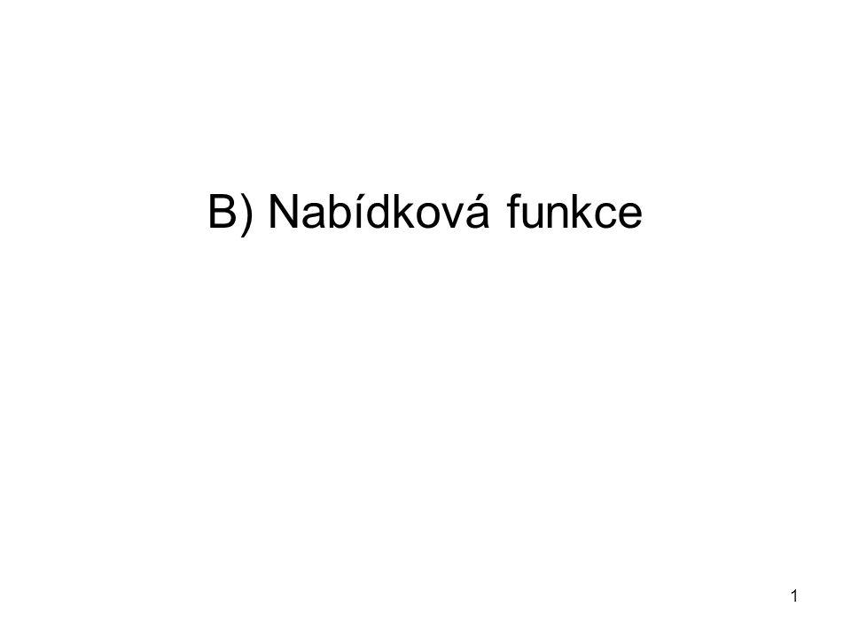 1 B) Nabídková funkce