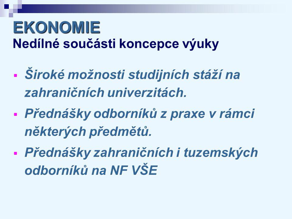 EKONOMIE EKONOMIE Absolventské dovednosti  Konstrukce jednoduchého ekonomického modelu a jeho aplikace při zodpovězení výzkumné otázky.