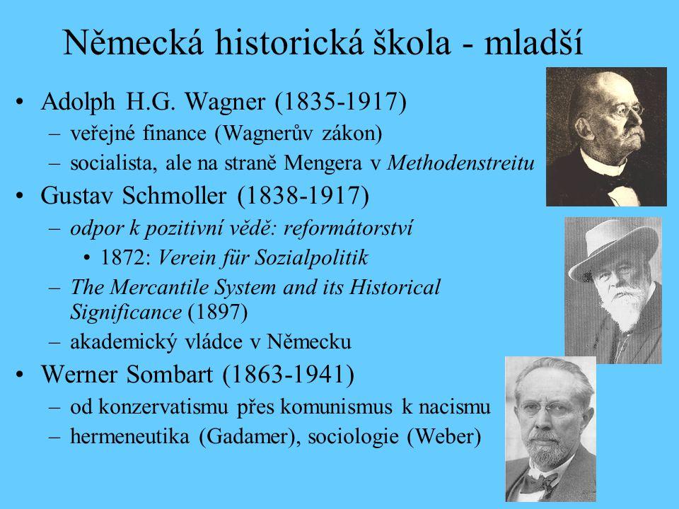 Německá historická škola - mladší Adolph H.G.