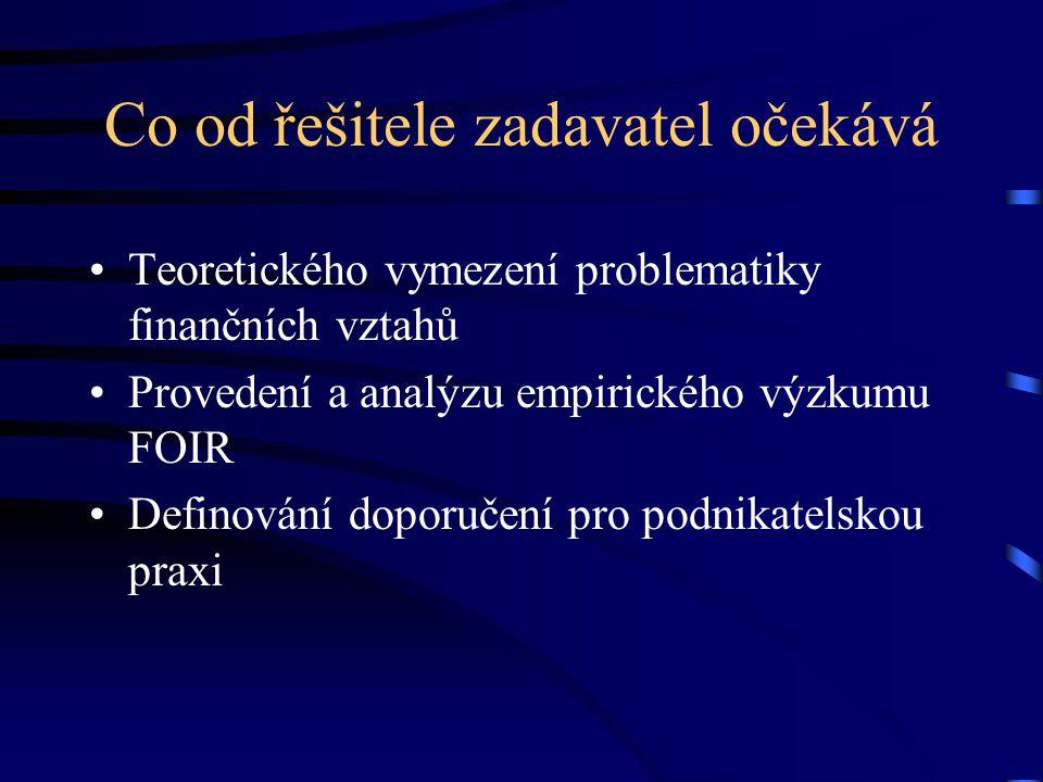 Definice problému: Bakalářská práce by měla vymezit a poukázat na důležitost finančních vztahů pro každý podnikatelský subjekt a analyzovat faktory ov