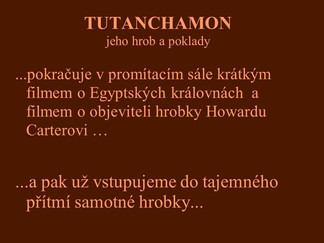 TUTANCHAMON jeho hrob a poklady-pohled zblízka Pozlacené dřevo, výška 90 cm Ochranná bohyně, střežila jednu stranu skříně s kanopami Tutanchamona