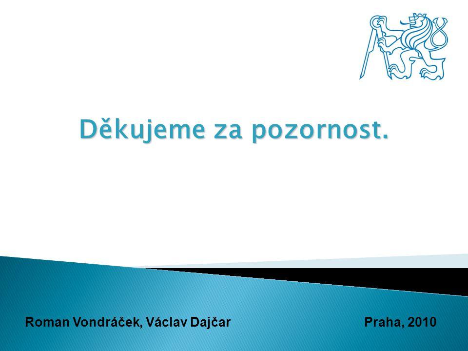 Děkujeme za pozornost. Roman Vondráček, Václav DajčarPraha, 2010