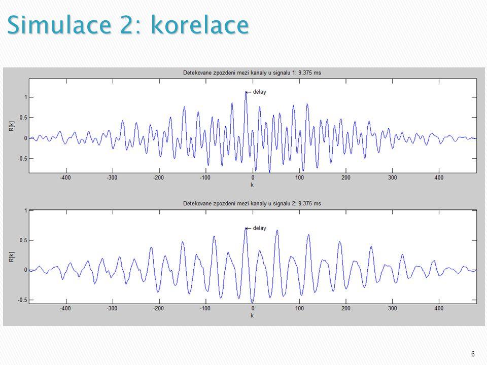 7 Reálný experiment 1 (řeč snímaná 2 mikrofony bez šumu)