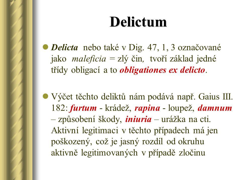 Delictum Delicta nebo také v Dig.