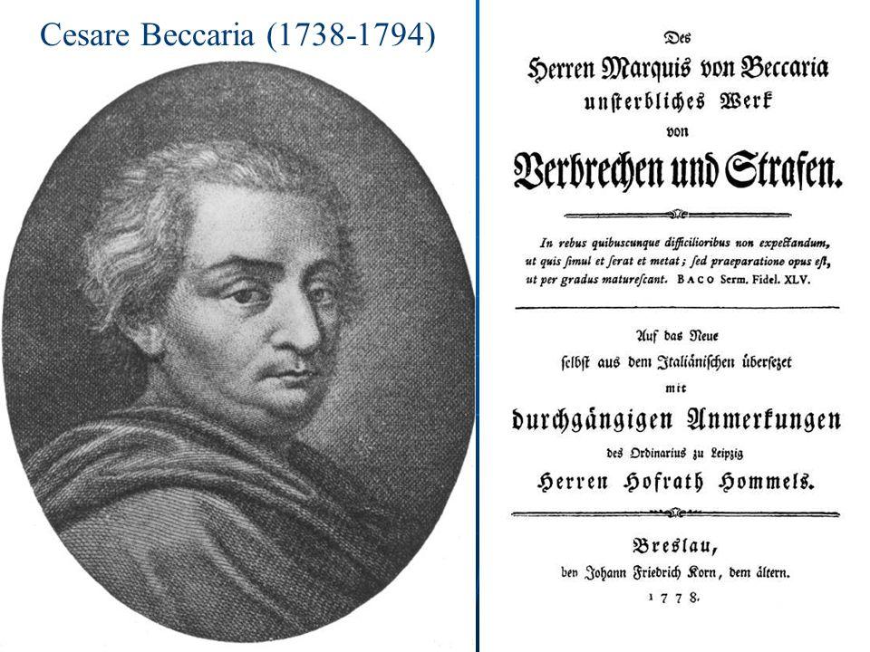Cesare Beccaria (1738-1794)