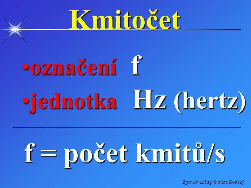 Zpracoval: Ing. Otakar Koucký Elektrický výkon označení Poznačení P jednotka W (watt)jednotka W (watt) P = U. I.(účin.)