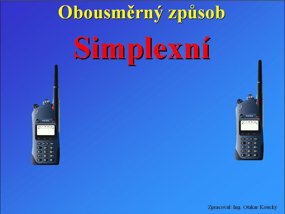Zpracoval: Ing. Otakar Koucký Obousměrný způsob Simplexní provozSimplexní provoz Dusimplexní provozDusimplexní provoz Duplexní provozDuplexní provoz S