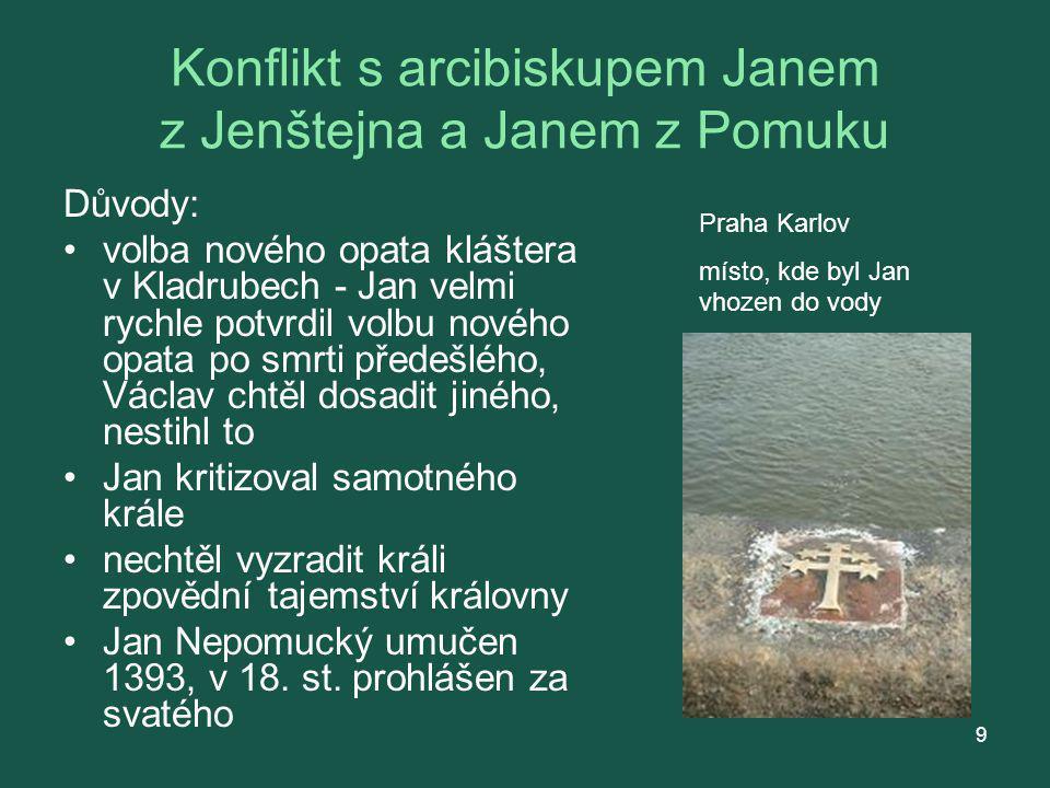 Jan Nepomucký socha Jana Nepomuckého v Klatovech Jan Nepomucký v Třebíči Kde stojí tato socha? 10