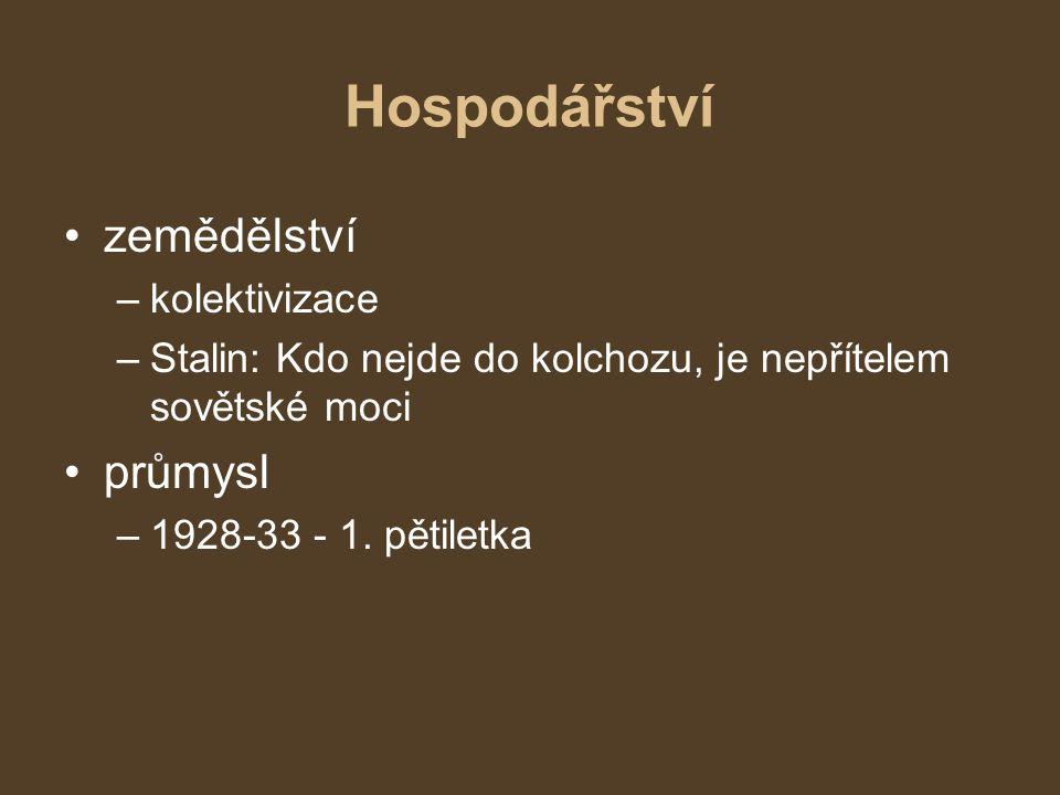 Sovětský svaz po r.1922 Do r. 1924 v čele země V.