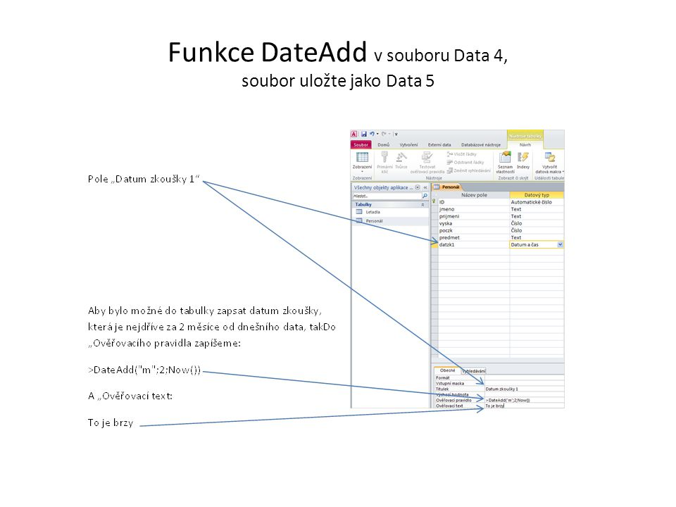 Zápis dřívějšího data