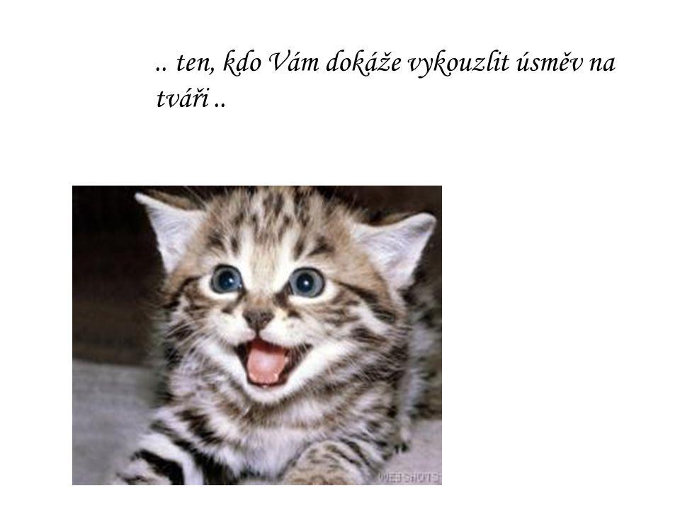 .. ten, kdo Vám dokáže vykouzlit úsměv na tváři..