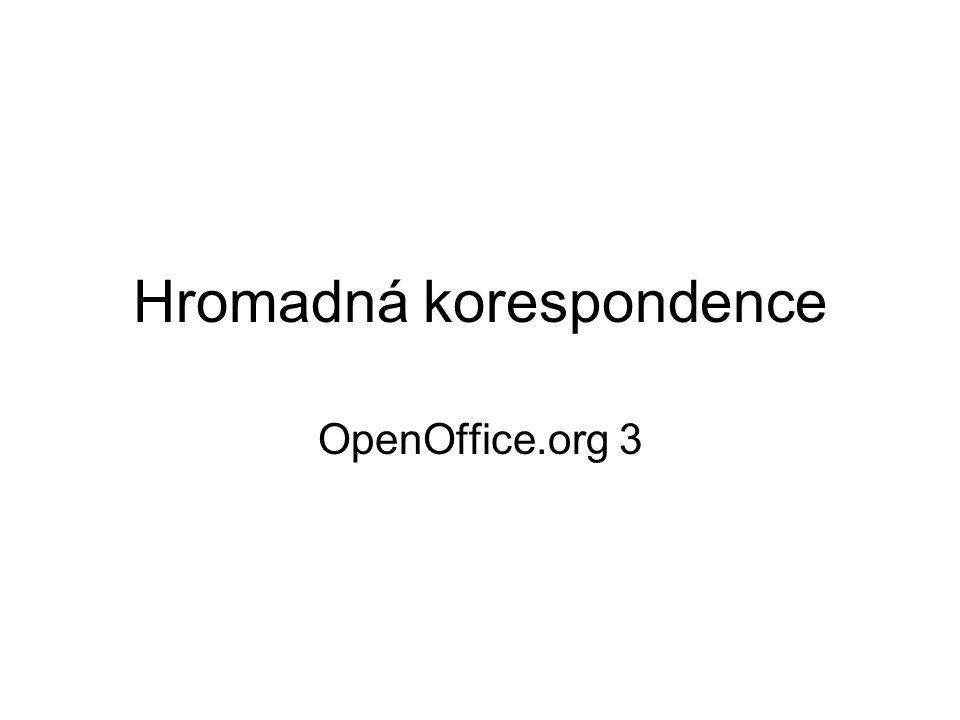 Hromadná korespondence OpenOffice.org 3