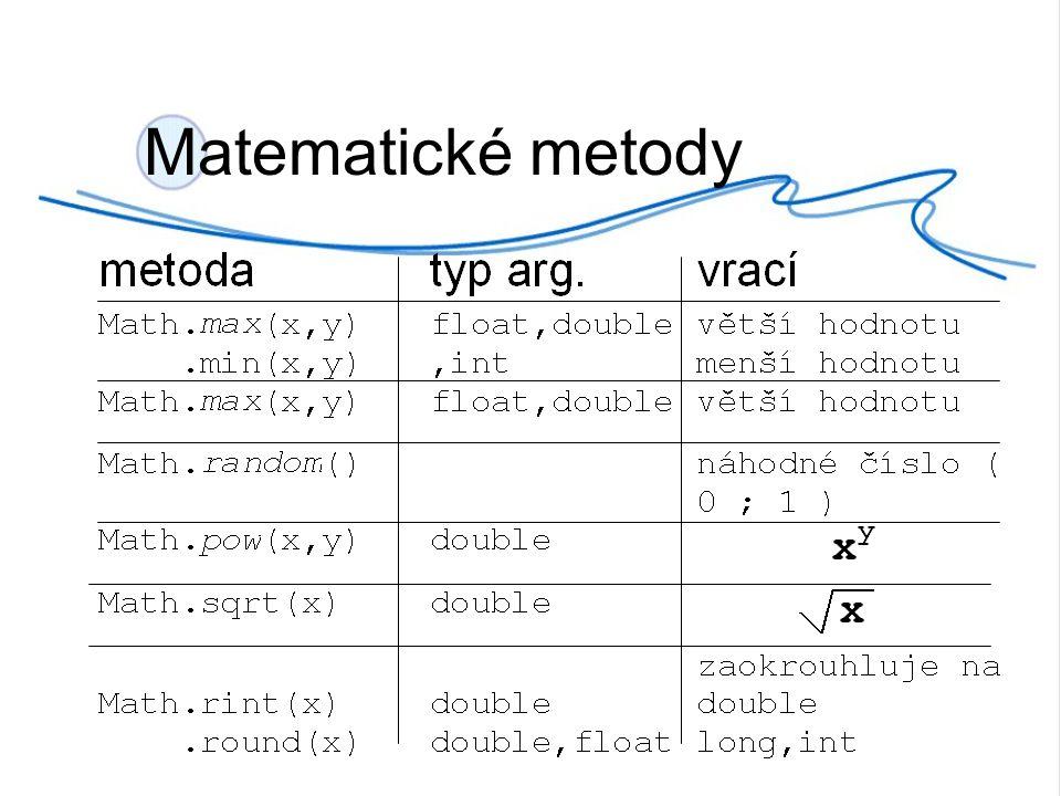 Matematické metody