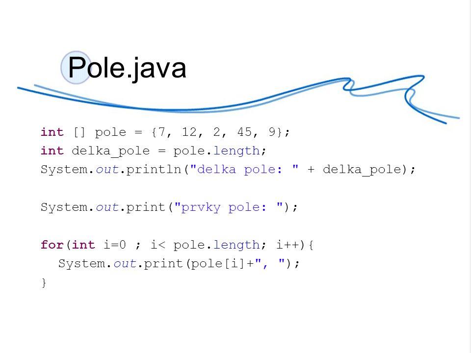 Vylepši program Obchod.java tak, aby místo jedné vstupní proměnné int kod bylo pole int kod [] a program: vypíše všechny výrobky a jejich celkovou cenu Obchod2.java