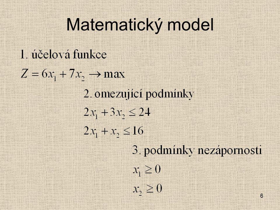6 Matematický model