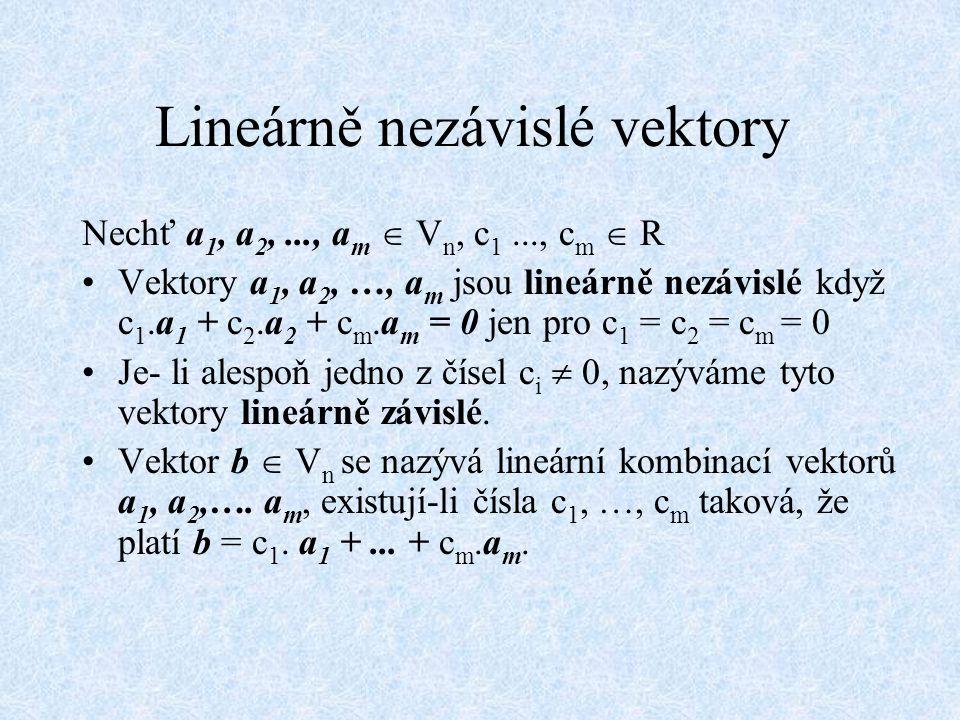 Soustava lineárních rovnic a 11 x 1 + a 12 x 2 + a 13 x 3 + ….