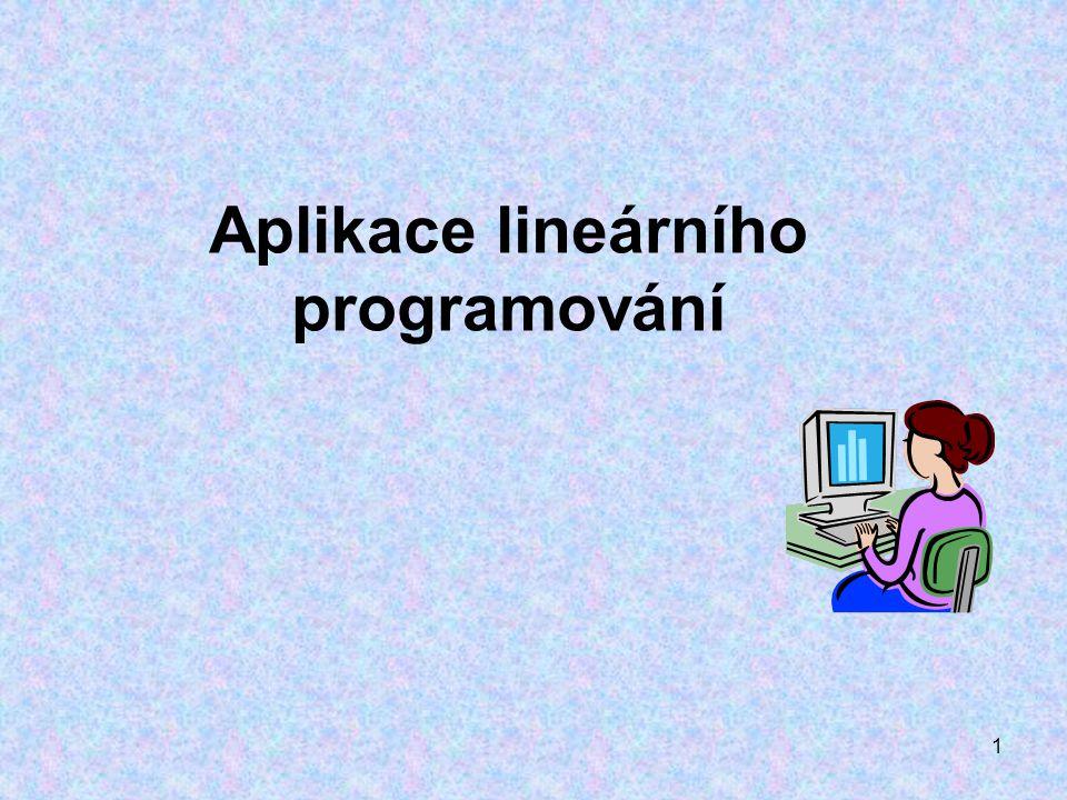 1 Aplikace lineárního programování