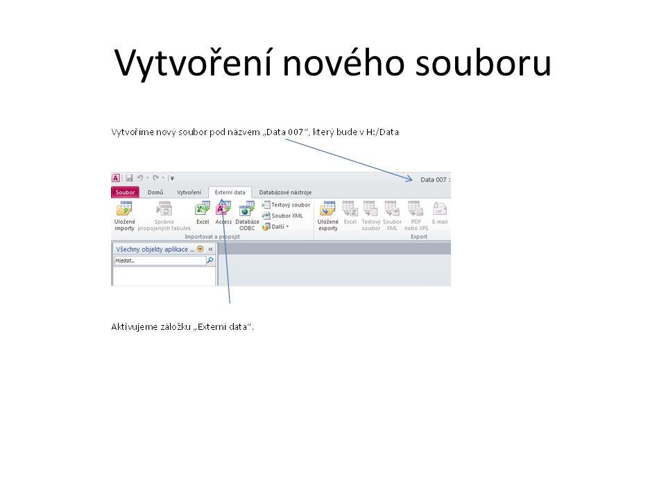 Vytvoření nového souboru