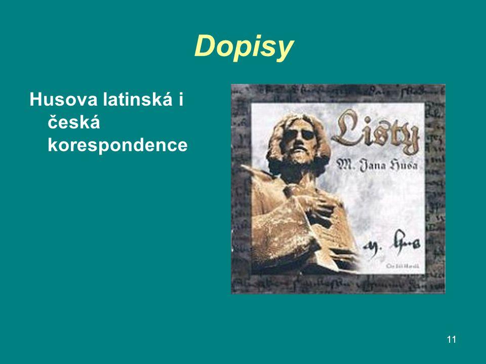 Dopisy Husova latinská i česká korespondence 11