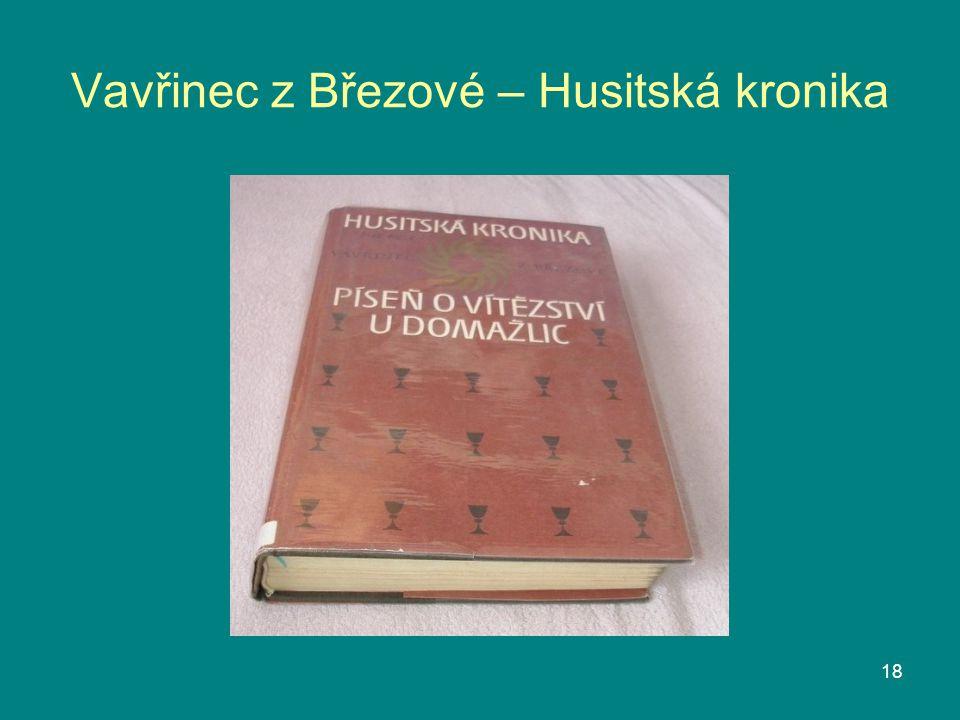 Vavřinec z Březové – Husitská kronika 18