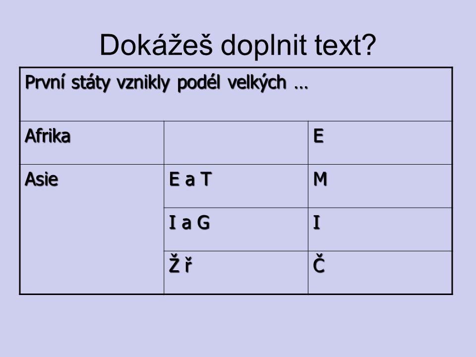 Dokážeš doplnit text.