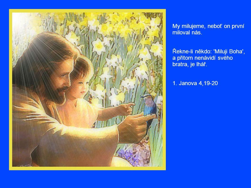 Požehnán buď Hospodin, má skála, který učí bojovat mé ruce a mé prsty válčit.