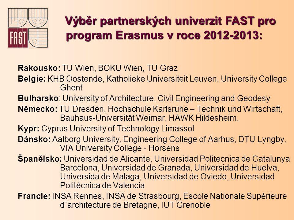 Rakousko: TU Wien, BOKU Wien, TU Graz Belgie: KHB Oostende, Katholieke Universiteit Leuven, University College Ghent Bulharsko: University of Architec