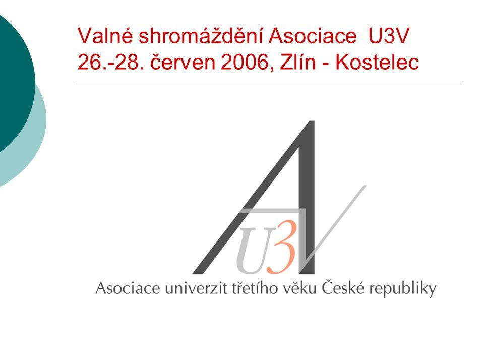 Valné shromáždění Asociace U3V 26.-28. červen 2006, Zlín - Kostelec