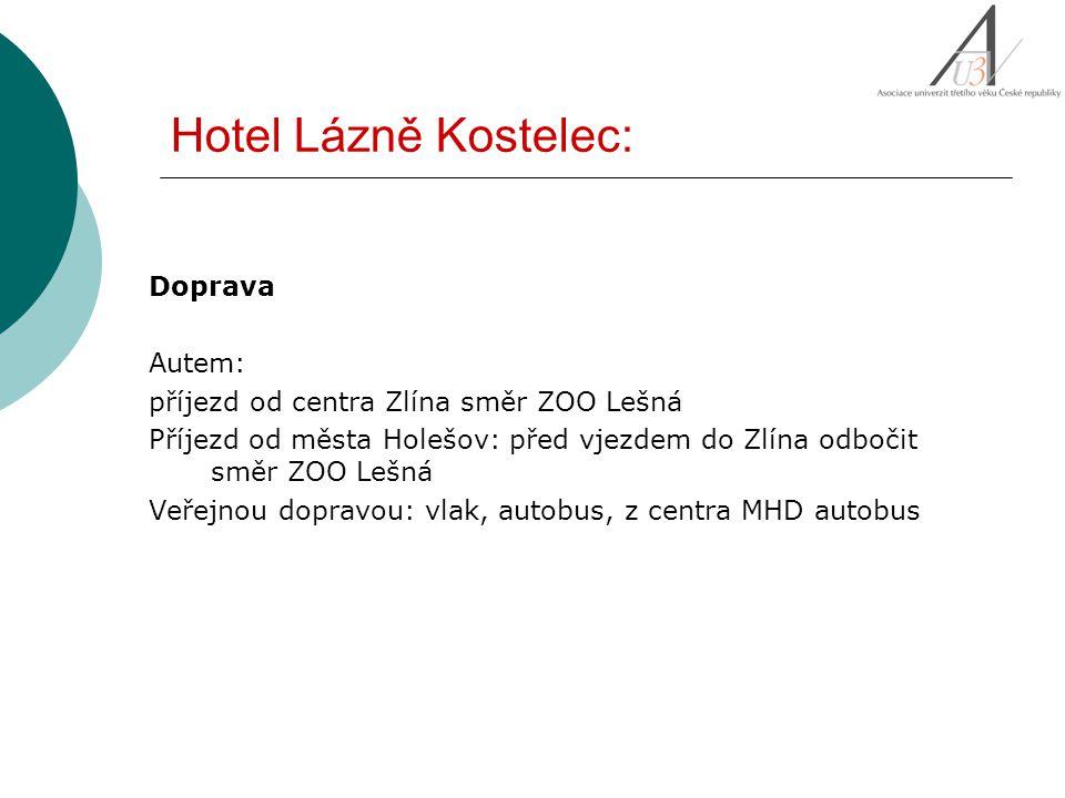 Doprava Autem: příjezd od centra Zlína směr ZOO Lešná Příjezd od města Holešov: před vjezdem do Zlína odbočit směr ZOO Lešná Veřejnou dopravou: vlak,