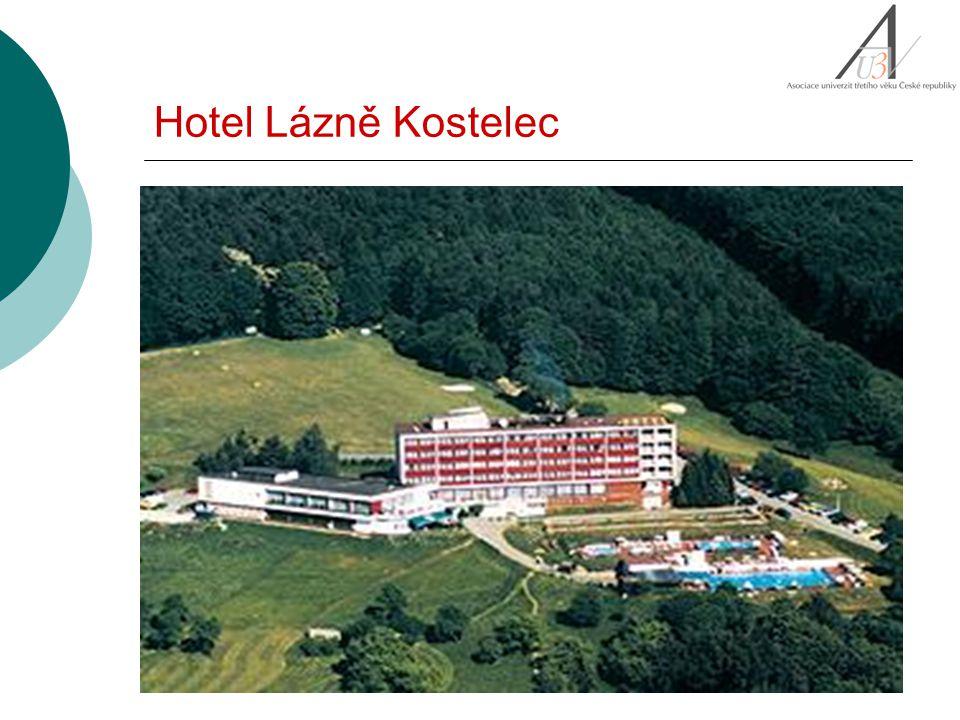 Hotel Lázně Kostelec: Dopravní spojení: Přijedete-li vlakem do Otrokovic, nasedněte před nádražím do trolejbusu MHD č.