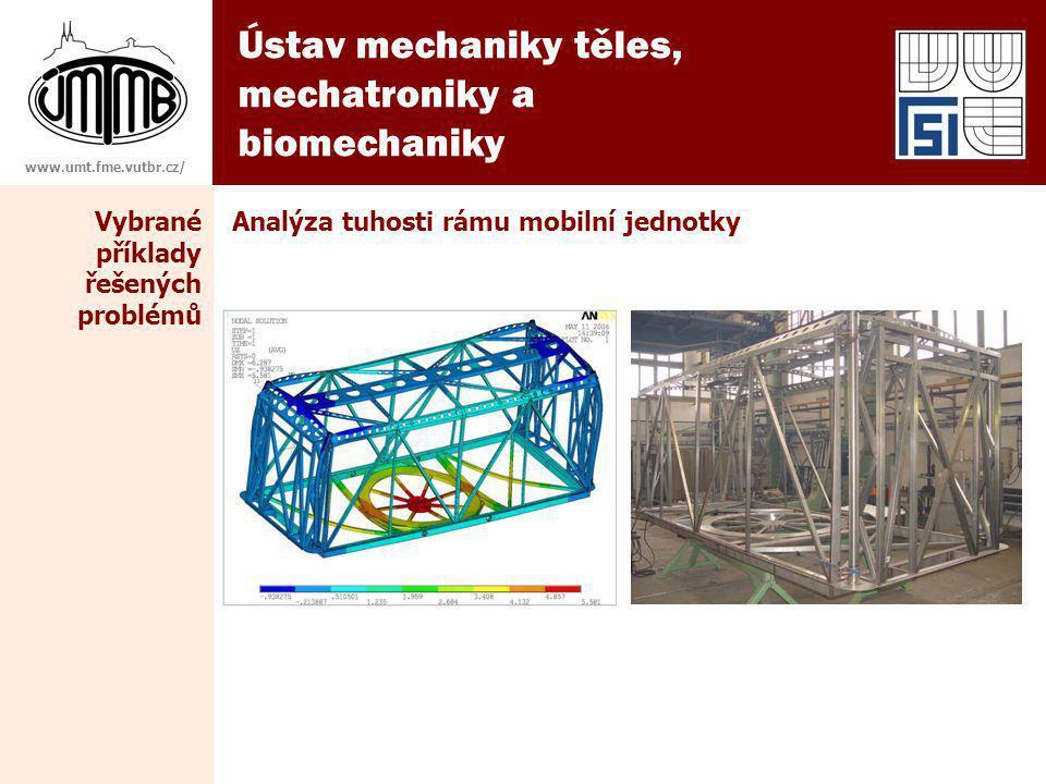 Ústav mechaniky těles, mechatroniky a biomechaniky www.umt.fme.vutbr.cz/ Analýza tuhosti rámu mobilní jednotkyVybrané příklady řešených problémů