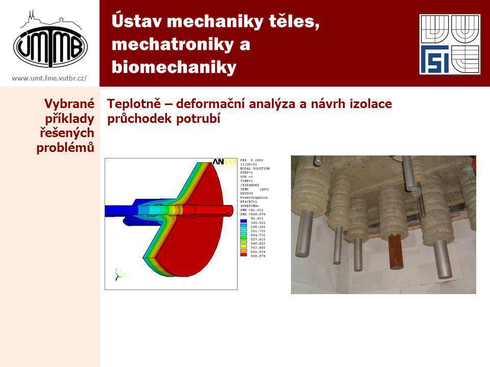 Ústav mechaniky těles, mechatroniky a biomechaniky www.umt.fme.vutbr.cz/ Teplotně – deformační analýza a návrh izolace průchodek potrubí Vybrané příklady řešených problémů